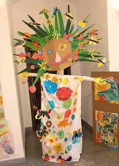 List of 7 best Funny Art And Crafts For Kids in week 2 Kids Crafts, Projects For Kids, Arts And Crafts, Spring Activities, Craft Activities For Kids, Spring Art, Spring Crafts, Kindergarten Art Projects, Collaborative Art