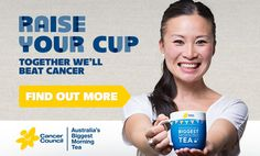 Australia biggest morning tea is a charity event to support cancer!