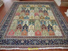 Handmade Silk Carpet - Qum