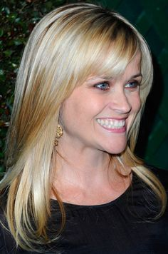 Reese Witherspoon hair. Long Straight Cut with Bangs.
