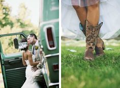 country rustic wedding. Pretty sure I'll wear boots like these on my wedding day