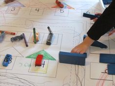 printable car track for children to colour in and use for small world play