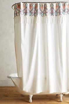 Anthro Kneeland Mercado Shower Curtain - upstairs bathroom