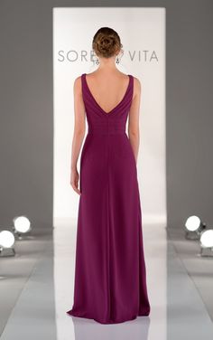 8338 Purple Bridesmaid Dresses by Sorella Vita