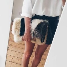 Fluffy stuff! #RIStylistAlice knows where it's at when it comes to accessories this season!  | Bag: 671820 #ImWearingRI #riverisland #RIStyleStudio #covetme