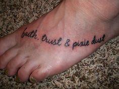 Faith, Trust & Pixie Dust by girlsmakeboyscry, via Flickr