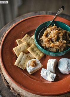Cebolla caramelizada con Thermomix. Receta Thermomix fácil y sencilla Waffles, Cereal, Cooking, Breakfast, Carne, Food, Drinks, Recipes, Sponge Cake