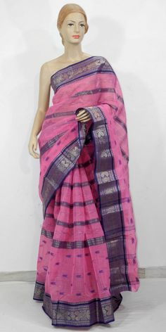 Buy this Bengal Handloom Tant Saree (Cotton) Online : http://www.maanacreation.com/product-view/?id=2218  This designer collection is handpicked from Kolkata (WB). It is latest, designer, high quality cotton saree with Designer Border and Pallu. Our each Saree is unique, designer and individually crafted to give a gorgeous look to your personality and in any gathering you will find all eyes upon you. Drape them in style and walk with pride to your parties and functions.