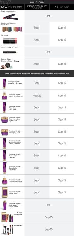 NEW PRODUCTS Schedule! So excited! http://www.youniqueproducts.com/lovedoris