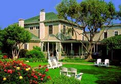 The Upham Hotel & Country House in Santa Barbara.  We celebrated our 5th wedding anniversary in one of their cottages   1994