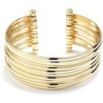 Belk Silverworks Gold Gold And Silver Moveable Cuff Bracelet