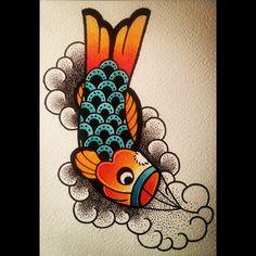 Koinobori Tattoo Design.