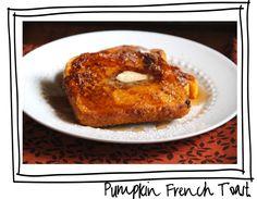 pumpkin french toast recipe via lilblueboo.com