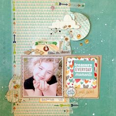 #papercraft #scrapbook #layout  treasure eveyday moments by leetazzie @2peasinabucket