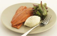 Salad of smoked trout with horseradish crème fraîche