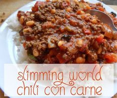 Chilli Con Carne Slimming World Style Cooked By kaycee Slimming World Chilli, Slimming World Beef Recipes, Chilli Recipes, Old Recipes, Rice Recipes, Milk Dessert, Syn Free, Fiber Foods, Food Staples