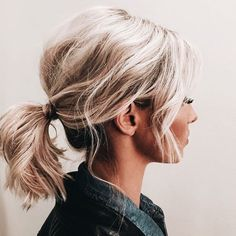 seriously adorable | bubbly, voluminous pony tail, short hair up do, fancy ponytail, curly pony, hairstyle, hair inspiration, everyday, bayalage, balayage, easy, diy ideas, casual, minimalist, minimalism, minimal, simplistic, simple, modern, contemporary, classic, classy, chic, girly, fun, clean aesthetic, bright, pursue pretty, style, neutral color palette, inspiration, inspirational, diy ideas, fresh, stylish,