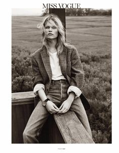 """Anna Ewers in """"Hamptons"""" photographed by Josh Olins for Vogue Paris, October 2013"""