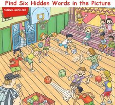 Find Six Hidden words in the Picture above and mention them in comments. This is the most difficult picture puzzles in the set of puzzles. Share the Picture with your family and friends and see if they can find all the six hidden words in the picture. Hidden Words In Pictures, Hidden Picture Puzzles, Word Pictures, Spot The Difference Kids, Brain Teasers Riddles, Picture Composition, Longest Word, Six Words, Maths Puzzles