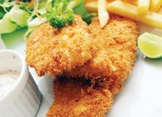 Recipe: Oven-fried Halibut. Tender baked halibut with a light, crispy coating.