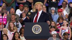 """President Trump held a rally in Harrisburg, Pennsylvania, on Saturday night, during which he attacked immigrants, promised to build a wall on the border with Mexico and lambasted the news media. Trump held the rally instead of going to White House Correspondents' Dinner in Washington, D.C.  President Donald Trump: """"As you may know, there's another big gathering taking place tonight in Washington, D.C. Did you hear about it? A large group of Hollywood actors and Washington media are conso..."""