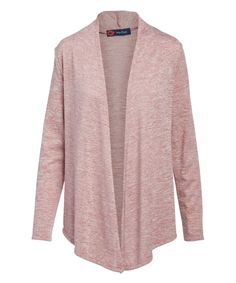 Mauve Mist Cascade Sidetail Open Cardigan - Women & Plus Last Day Of Summer, Open Cardigan, Cardigans For Women, Mauve, Mists, Indigo, How To Look Better, High Point, Poppy