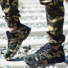 Work Boots Construction Men's Outdoor Steel Toe Cap Shoes Men Camouflage Puncture Proof High Quality Safety Shoes Plus Size Best Sneakers, Running Sneakers, Safety Shoes For Men, Shoes Men, Military Shoes, Sneakers For Plantar Fasciitis, Steel Toe, Types Of Shoes, Combat Boots