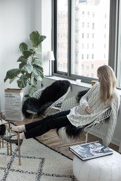 lounging at home