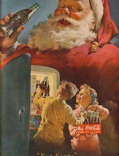 """""""For Santa"""" - Haddon Sundblom (1899 – 1976) - Coca Cola Company's Coca-Cola (1950)"""