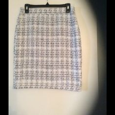 Black and white pencil skirt. Was $20 now $18..  Beautiful tweed skirt for any occasion. Only worn twice. From top to bottom is 20-1/2 inches. Express Other