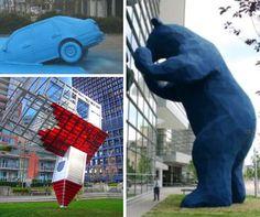 Civic Pride: 9 Inspiring Pieces of Participatory Public Art Installation Street Art, Sidewalk Art, Teaching Art, Community Art, Public Art, Art Education, Cool Art, Art Projects, Contemporary Art