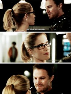"#Arrow 5x20 ""Underneath"" - ""You know me too well."" - #FelicitySmoak #OliverQueen"
