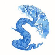Ink Tree Test: Diamine ~ China Blue