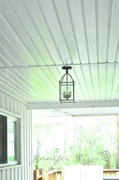 Jennifer Rizzo The Oak House Project Renewing A Porch Ceiling With Fascia