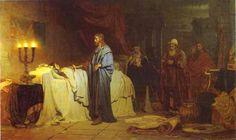 Iliya Efimovich Repin  Paintings-Christ Healing Iyaira's Daughter, 1871