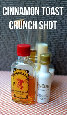 Cinnamon Toast Crunch Shot - Make these at your next party!