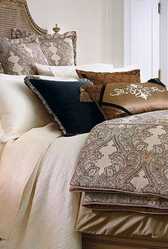 Transform your master suite into a stylish haven with the Deveraux Bedding Collection that boasts stunning neutrals complimented by elegant scroll work.