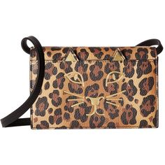 Charlotte Olympia Feline Purse (Natural Leopard Print Goatskin) (15,420 MXN) ❤ liked on Polyvore featuring bags, handbags, shoulder bags, shoulder handbags, charlotte olympia, leopard print shoulder bag, leopard shoulder bag and purse shoulder bag