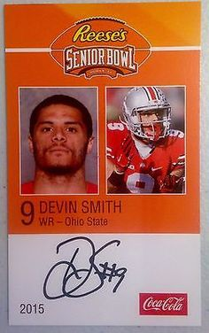 Devin #smith ohio state autographed #senior bowl card new york jets #draft pick,  View more on the LINK: http://www.zeppy.io/product/gb/2/271857129318/