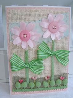 ♥ button flowers