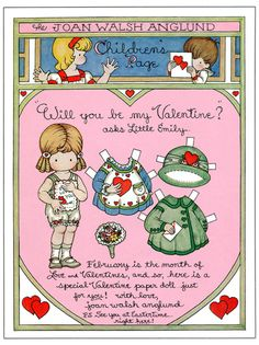 """""""Will you be my Valentine? asks Little Emily""""  I had this book series when I was a little kid!"""