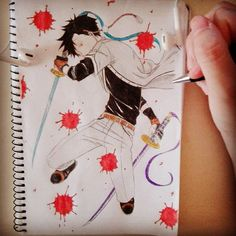 manga Finished!! *-* #draw #drawing #mydrawing #mymanga #mylife #mangaboys #manga #anime #animedrawing #animeartist #instamanga #instadraw #art #artist #mangaart #mangalover #mangaka #comic #colorful #fanmanga #blood #katana #yelloweyes