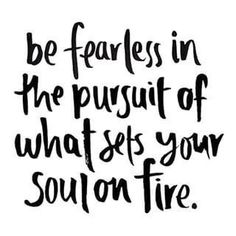 If what you're doing doesn't set your soul on fire then you need to do something else. #chooseposh