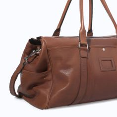 ZARA - MAN - LEATHER WEEKEND BAG