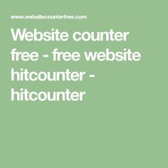 Website counter free - free website hitcounter - hitcounter Free Website