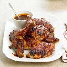 Decadently sauced and falling-from-the-bone tender, Scott Peacock's classic barbecue chicken recipe is a family favorite.