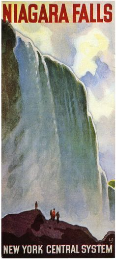 travel posters of ireland. New York Central - Niagara Falls vintage travel poster Old Poster, Poster Art, Poster Prints, Pub Vintage, Photo Vintage, Vintage Style, Vintage Travel Posters, Vintage Postcards, Travel Ads