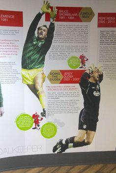 Jerzy Dudek - pamiątka w muzeum klubu Liverpool FC na stadionie Anfield