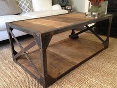 MY DREAM COFFEE TABLE!!!!!!!!!   Masterpiece Belgian 19c Wood Industrial Iron Mounted Coffee Table | eBay