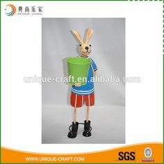 2016 Funny Metal Bunny With Flower Planter And Pot - Buy Metal Bunny With Pot,Metal Bunny Figurine Pot,Metal Flower Planter Pot Product on Alibaba.com